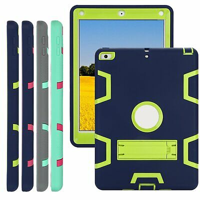 Heavy Duty Case Shockproof Hybrid Rubber Stand Cover for iPad 6th Gen 2/3/4 Mini