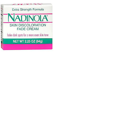 Nadinola Skin Discoloration Fade Cream Extra Strength Formula 2.25 oz