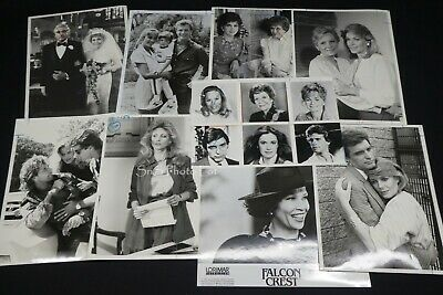 "9 x TV Press Kit Photos ~ 8x10 Soap Opera ""Falcon Crest"" Morgan Fairchild & More"