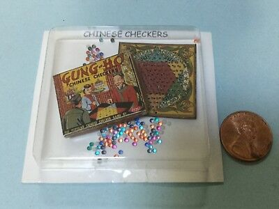Dollhouse Miniature Checkers Board Game 1:12 One Inch Scale H62 Dollys Gallery