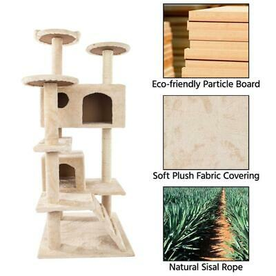 """52"""" Cat Tree Tower Condo Furniture Scratching Scratch Pet Kitty Play House US"""