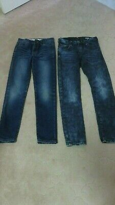 BOYS SIZE 12 JEANS x 2 pairs extender waistband -  fantastic condition