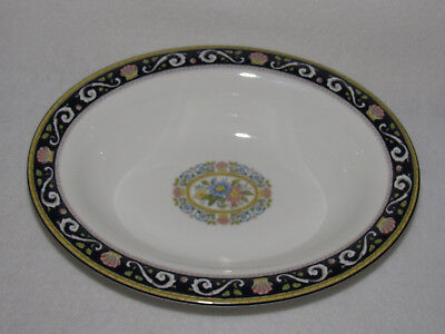 "Wedgwood ""runnymede Blue"" Bone China 10"" Oval Serving Bowl  -  Mint"