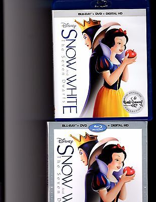 Snow White and the Seven Dwarfs Blu-Ray + DVD with slipcover (No Digital)-Disney