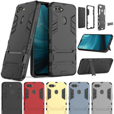 Slim Shockproof Hybrid Stand Case Heavy Duty Hard Armor Cover For OPPO AX7 2018