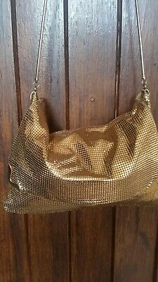 Gold glomesh slouch hip bag