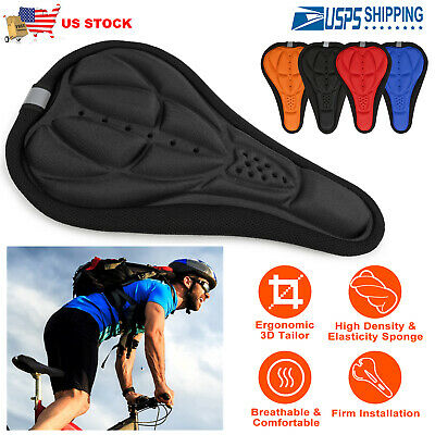 Outdoor Cycling Bicycle Bike Seat Cover Cushion Soft 3D Soft Padded US Free Ship