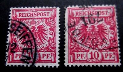 Germany-1897-2 X 10pf Red issues-Used