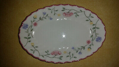 """Johnson Brothers Summer Chintz Small 7 3/4""""  Oval Relish Plate - Vegetable Dish"""