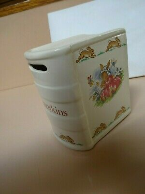 BUNNYKINS  by Royal Doulton. Moneybox  in book shape.