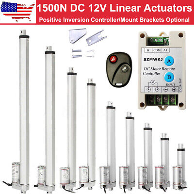 USA 1500N Linear Actuator 12V 330Lbs Electric Motor Auto Lift Window Door Opener
