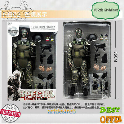 """1/6 Jungle ACU Soldier Suit 12"""" Military Army Combat Action Figure Model NB02A"""