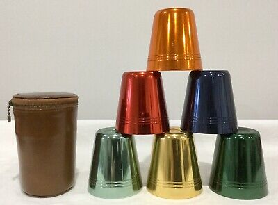 Vintage Anodised Cups Beakers And Case Picnic Travel Made In Australia Caribbean
