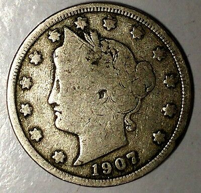 """1907-P  5C Liberty Head Nickel 18ct1103 """"Only 50 Cents for Shipping"""""""