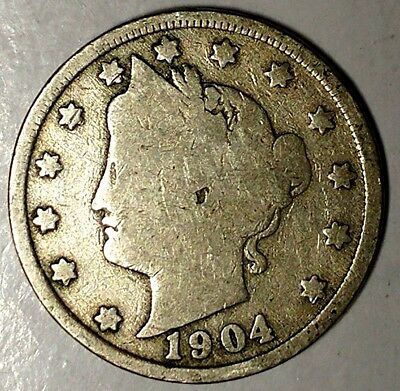 """1904-P  5C Liberty Head Nickel 18ct1103 """"Only 50 Cents for Shipping"""""""