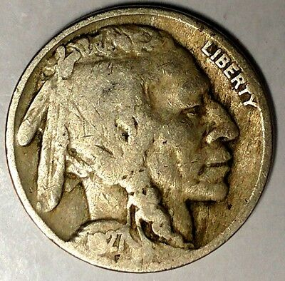 "1927-P 5C Buffalo Nickel, 18lsr1204-7 ""Only 50 Cents for Shipping"""