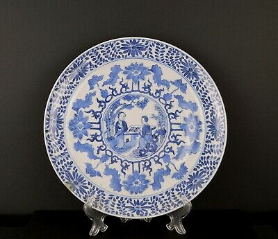 A Good Quality Chinese 19Th Century Plate With Ladies Playing Go