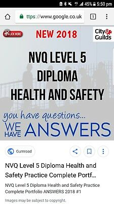 health and safety NVQ level 5 2018 completed
