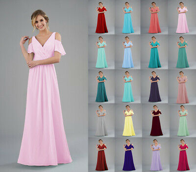 Formal Long Off Shoulder Ball Gowns Party Cocktail Prom Evening Bridesmaid Dress