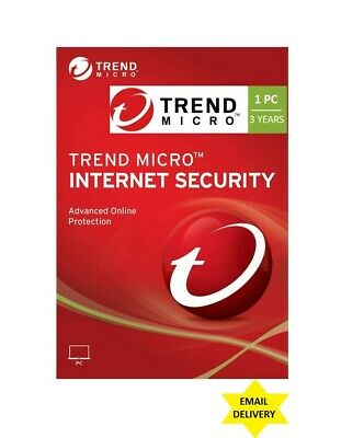 Trend Micro Internet Security - Version 15 for 2019 (3 Years for 1 Device!)