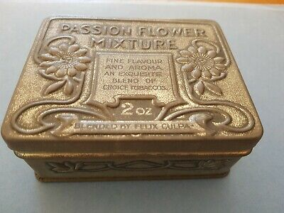 Passion Flower Mixture Tobacco Tin 2ozs - Blended by Felix Culpa - 1900s Antique