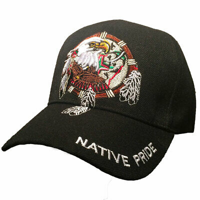 Casquette aigle native pride USA- western - country color noire  homme/femme