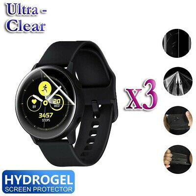 3x Samsung Galaxy Watch Active Full Coverage Waterproof Screen Protector Guard