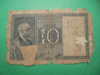 Small Old Italy Banknote (Rubbish)