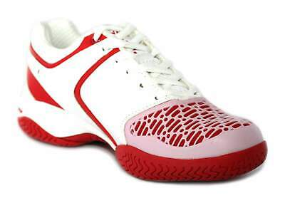 Dunlop Ortholite Girls White / Hot Pink Tennis Shoes Trainers [306972] - Size 3
