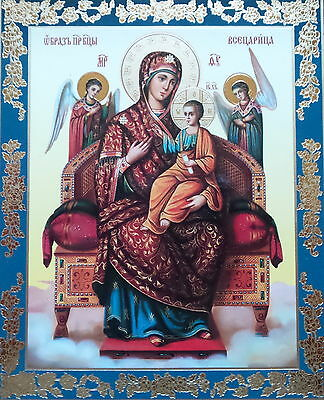MARY MADDONA CHRIST CHILD ANGELS  Icon Russian Christian Orthodox RELIGEOUS