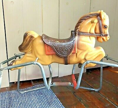 Vintage 1964 Collectible Blazon Inc Child's Rocking Hobby Horse Molded Plastic