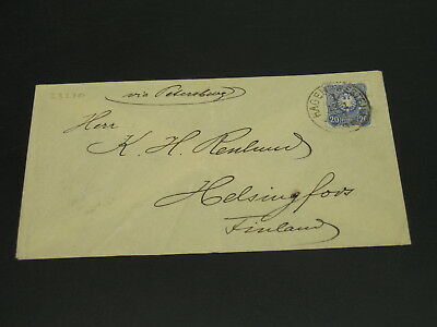 Germany 1889 Hagen on cover to Finland folds *23270