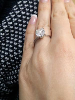Certified 2.50Ct Round Cut Diamond Solitaire Engagement Ring In 14K White Gold
