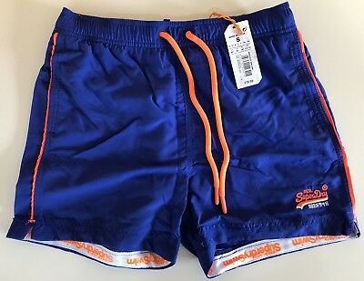 502cfe8a03097 Superdry Beach Volley Swim Shorts Voltage Blue - NEW with tags & Original  pouch