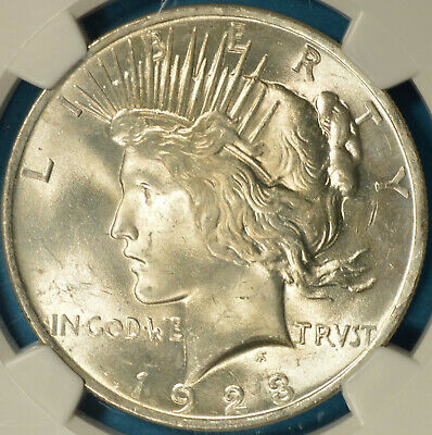 1923 Peace Dollar NGC MS64- Strong Luster, Nice Eye Appeal