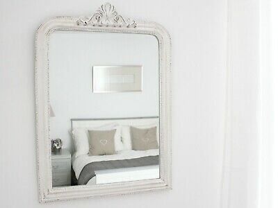 White Ornate Antique French Luxury Rococo Vintage Mirror Mothers Day Easter