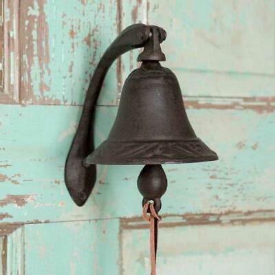 NEW!!! Primitive Country Farmhouse Cast Iron LOGAN Dinner Bell With Bracket