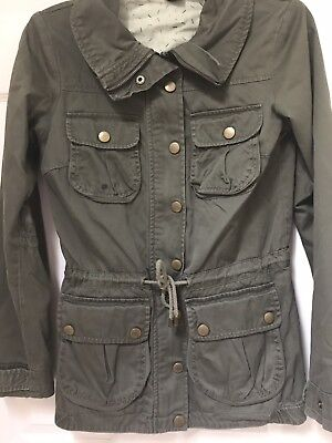 cfe7c27f6d2 H&M DIVIDED GREEN Army Utility Jacket Size 4 - $11.00   PicClick