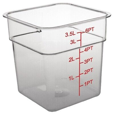 Vogue Polycarbonate Square Storage Container 3.5Ltr (Next working day to UK)