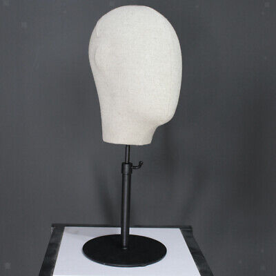 Canvas MANNEQUIN Head Holder Base for Display Hair Wigs Hats Caps Glasses