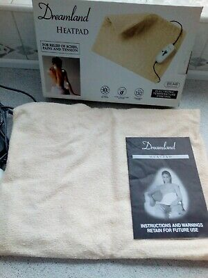Electric back/shoulder etc heat pad.3 heat settings. On/off Washable cover