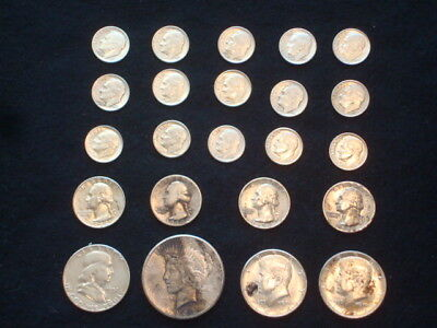 $5 Face Value Lot Of U.s. Coins 90% Silver  Mixed Variety L6