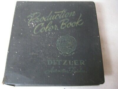 Ditzler Color chip paint book 1960`s buick cadillac chevrolet dodge ford edsel