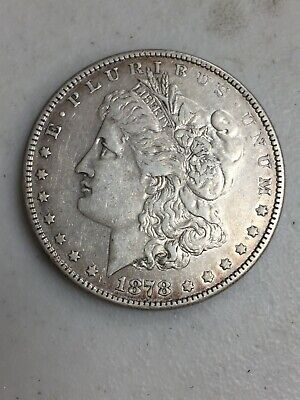 1878  Morgan  Silver Dollar 8 Tail Feathers