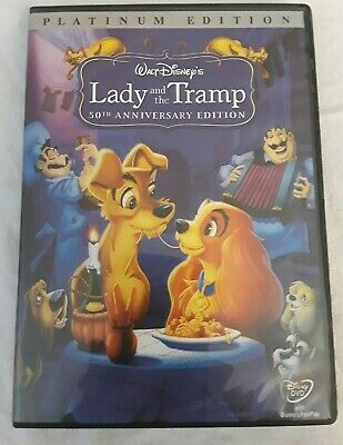 Lady and the Tramp (DVD, 2006, Platinum Edition) Disney 50th Anniversary