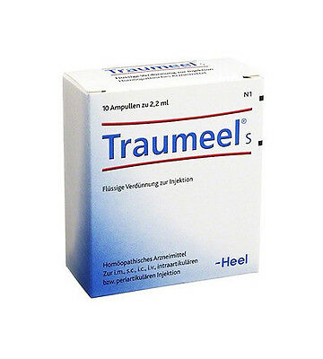 Heel Traumeel S Ampoules 2.2ml (10 Ampules), Exp 06/2021