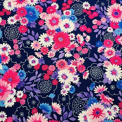 C7021-M Floral Posy Stretch Denim Dress Fabric