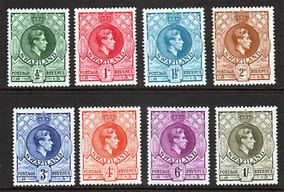 Swaziland KGVI 1938 Part Set to 1/- 1s Pf. 13.5 x 14 Mint Lightly Hinged