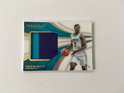 2018 Panini Immaculate Dwayne Bacon Hornets PATCH 17/25