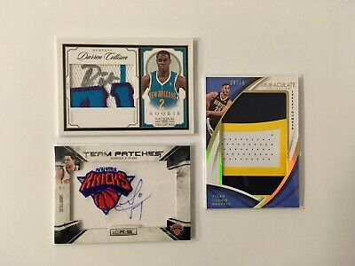 3x Basketball Cards PATCH AUTO